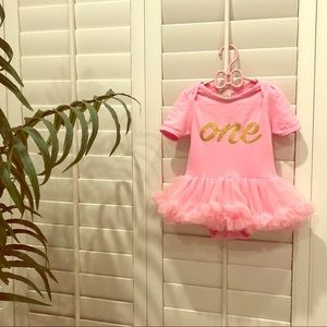 Other - One Year Old Pink Birthday Girl Outfit